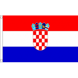 Croatia National Flag - Budget 5 x 3 feet Flags - United Flags And Flagstaffs