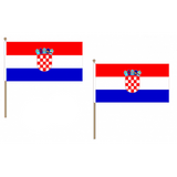 Croatia Fabric National Hand Waving Flag  - United Flags And Flagstaffs
