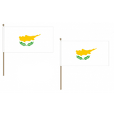 Cyprus Fabric National Hand Waving Flag  - United Flags And Flagstaffs