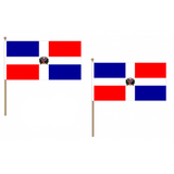 Dominican Republic Fabric National Hand Waving Flag  - United Flags And Flagstaffs