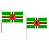 Dominica Fabric National Hand Waving Flag