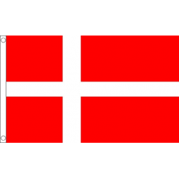 Denmark National Flag - Budget 5 x 3 feet Flags - United Flags And Flagstaffs