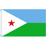 Djibouti National Flag - Budget 5 x 3 feet