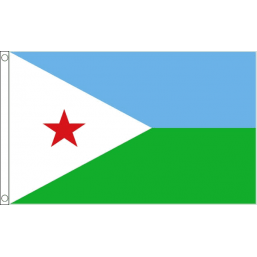 Djibouti National Flag - Budget 5 x 3 feet Flags - United Flags And Flagstaffs
