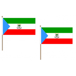 Equatorial Guinea Fabric National Hand Waving Flag  - United Flags And Flagstaffs