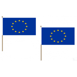 European Union Fabric National Hand Waving Flag Flags - United Flags And Flagstaffs