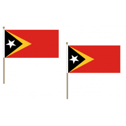 East Timor Fabric National Hand Waving Flag  - United Flags And Flagstaffs