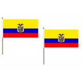 Ecuador Fabric National Hand Waving Flag  - United Flags And Flagstaffs