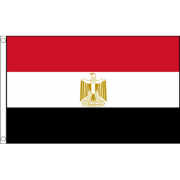Egypt National Flag - Budget 5 x 3 feet Flags - United Flags And Flagstaffs