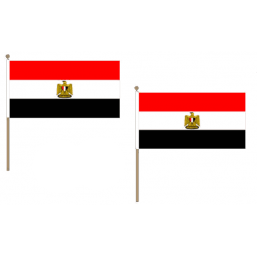 Egypt Fabric National Hand Waving Flag  - United Flags And Flagstaffs