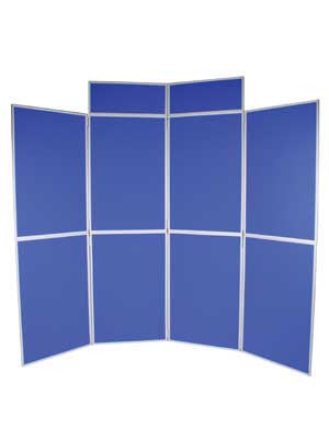 Folding Panel Exhibition Kit - 8 Panel Banners - United Flags And Flagstaffs