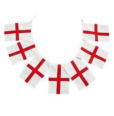 Plastic England Flag Bunting Flags - United Flags And Flagstaffs