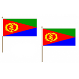 Eritrea Fabric National Hand Waving Flag Flags - United Flags And Flagstaffs