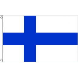 Finland (Civil) National Flag - Budget 5 x 3 feet Flags - United Flags And Flagstaffs