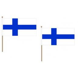 Finland Fabric National Hand Waving Flag