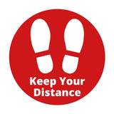 COVID SECURE - FLOOR GRAPHICS - KEEP YOUR DISTANCE (10 Pack)