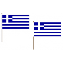 Greece Fabric National Hand Waving Flag