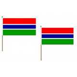 Gambia Fabric National Hand Waving Flag