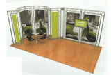 Gantry Exhibition Stands - Prices On Application And Free 3D Design Service Flags - United Flags And Flagstaffs