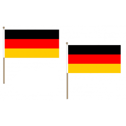 Germany Fabric National Hand Waving Flag Flags - United Flags And Flagstaffs