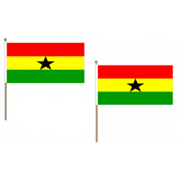 Ghana Fabric National Hand Waving Flag Flags - United Flags And Flagstaffs