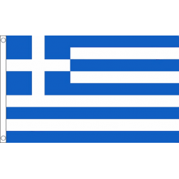Greece National Flag - Budget 5 x 3 feet Flags - United Flags And Flagstaffs