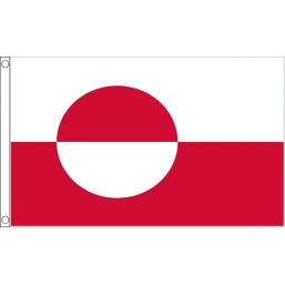 Greenland National Flag - Budget 5 x 3 feet Flags - United Flags And Flagstaffs