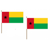 Guinea Bissau Fabric National Hand Waving Flag