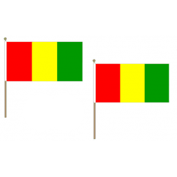Guinea Fabric National Hand Waving Flag