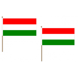 Hungary Fabric National Hand Waving Flag Flags - United Flags And Flagstaffs