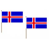 Iceland Fabric National Hand Waving Flag