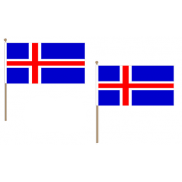 Iceland Fabric National Hand Waving Flag Flags - United Flags And Flagstaffs