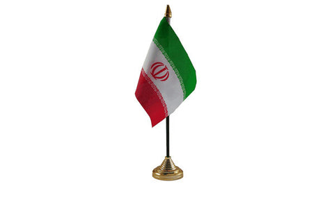 Iran Table Flag Flags - United Flags And Flagstaffs