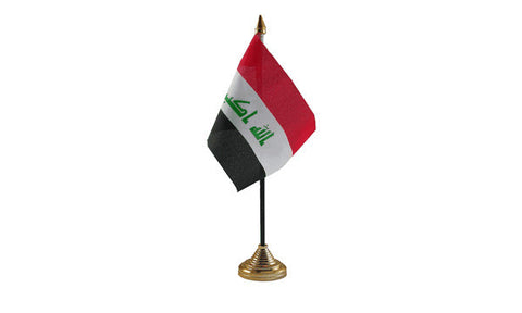Iraq Table Flag Flags - United Flags And Flagstaffs