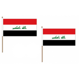 Iraq Fabric National Hand Waving Flag