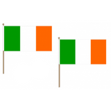Ireland Fabric National Hand Waving Flag Flags - United Flags And Flagstaffs