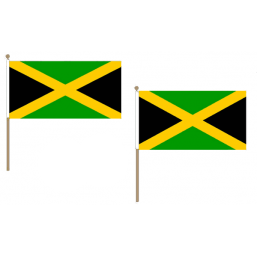 Jamaica Fabric National Hand Waving Flag Flags - United Flags And Flagstaffs