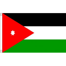 Jordan National Flag - Budget 5 x 3 feet