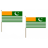 Kashmir Fabric National Hand Waving Flag Flags - United Flags And Flagstaffs
