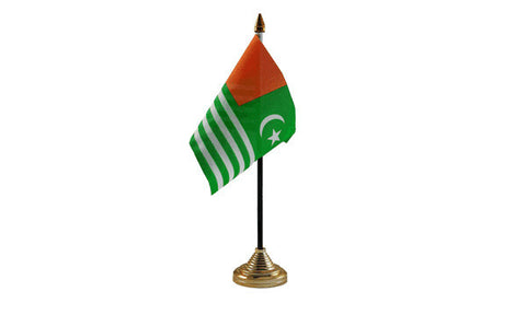 Kashmir Table Flag Flags - United Flags And Flagstaffs