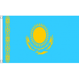 Kazakhstan National Flag - Budget 5 x 3 feet Flags - United Flags And Flagstaffs