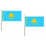 Kazakhstan Fabric National Hand Waving Flag
