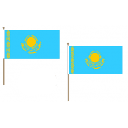 Kazakhstan Fabric National Hand Waving Flag Flags - United Flags And Flagstaffs
