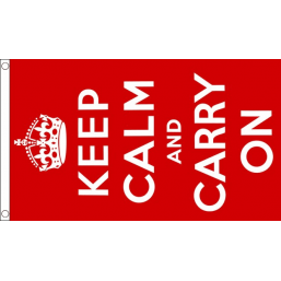 Keep Calm Flag (red) - British Military & Remembrance