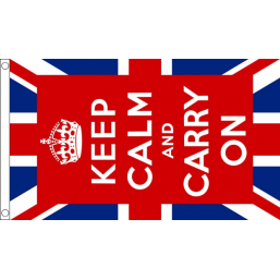 Keep Calm Flag (UK) - British Military & Remembrance Flags - United Flags And Flagstaffs