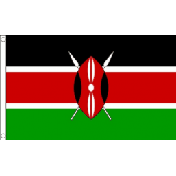 Kenya National Flag - Budget 5 x 3 feet