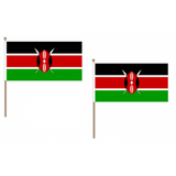 Kenya Fabric National Hand Waving Flag