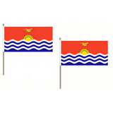 Kiribati Fabric National Hand Waving Flag Flags - United Flags And Flagstaffs