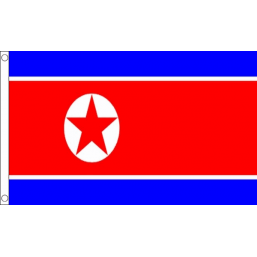 Korea (North) (Peoples Democratic Republic of) National Flag - Budget 5 x 3 feet Flags - United Flags And Flagstaffs