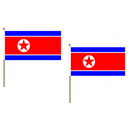 Korea (North) Fabric National Hand Waving Flag